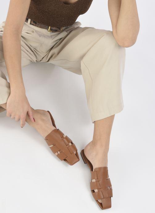 Clogs & Pantoletten Made by SARENZA Rustic Beach Mules #5 braun ansicht von unten / tasche getragen