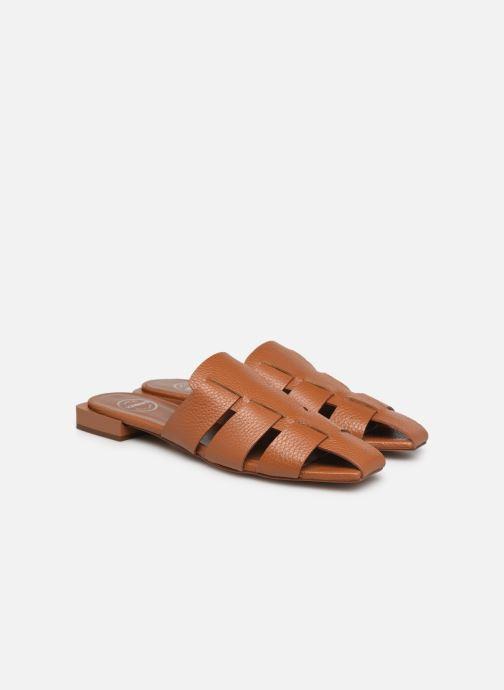 Clogs & Pantoletten Made by SARENZA Rustic Beach Mules #5 braun ansicht von hinten