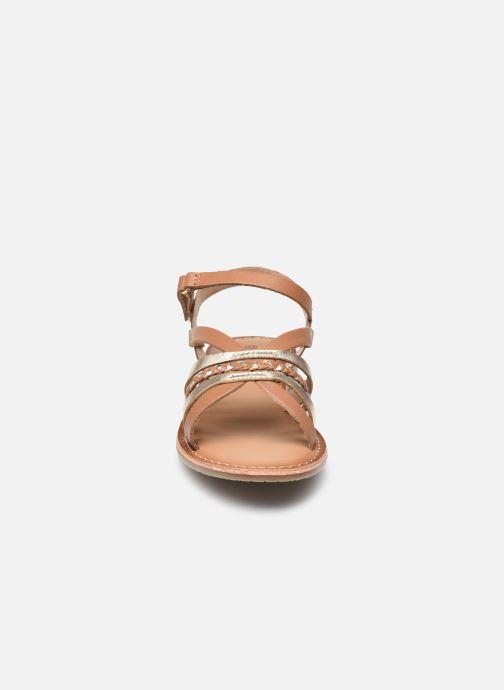 Sandales et nu-pieds Rose et Martin KOLETTE LEATHER Marron vue portées chaussures