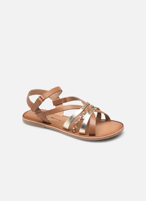 Sandales et nu-pieds Rose et Martin KOLETTE LEATHER Marron vue détail/paire