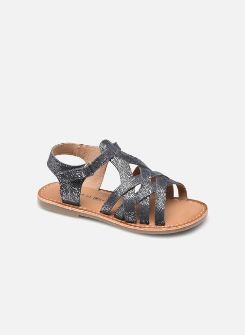 Sandales et nu-pieds Rose et Martin KOEUR LEATHER Bleu vue détail/paire