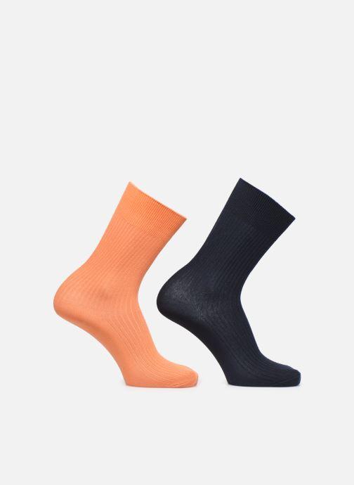 Chaussettes et collants Knowledge Cotton Apparel Chaussettes Linden Pack 2 Orange vue détail/paire