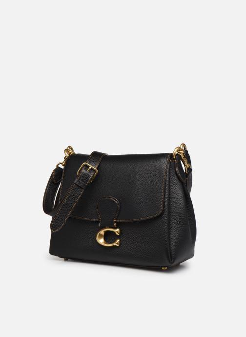 Sacs à main Coach May Shoulder Bag Noir vue portées chaussures