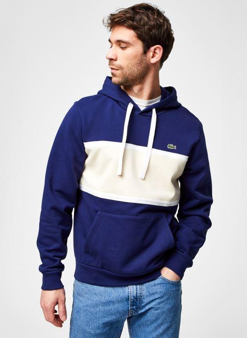 Kleding Lacoste Sweatshirt ML SH0097 Blauw rechts