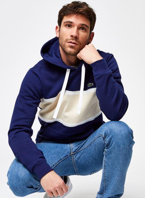 Kleding Lacoste Sweatshirt ML SH0097 Blauw detail