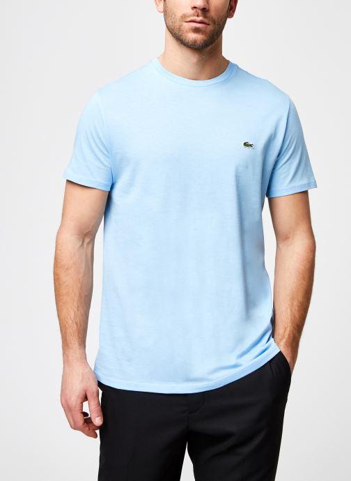 Vêtements Lacoste Tee-Shirt Classique MC TH6710 Lacoste Bleu vue détail/paire