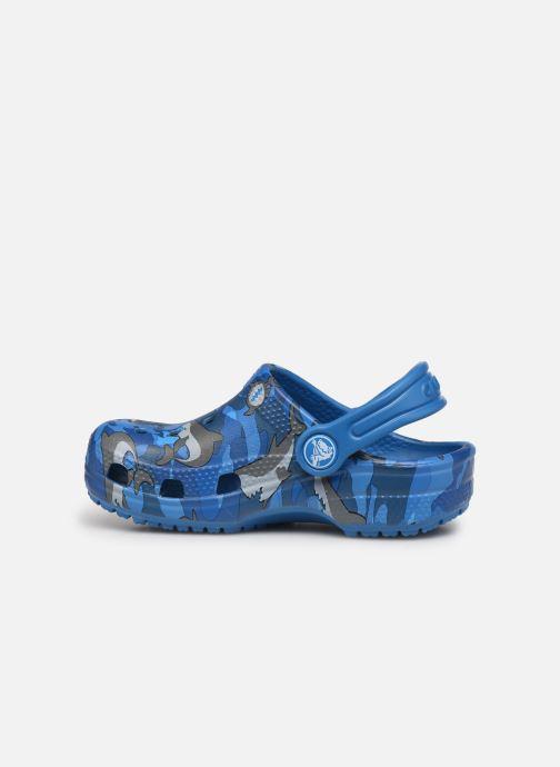 Sandalen Crocs Classic Shark Clog PS blau ansicht von vorne