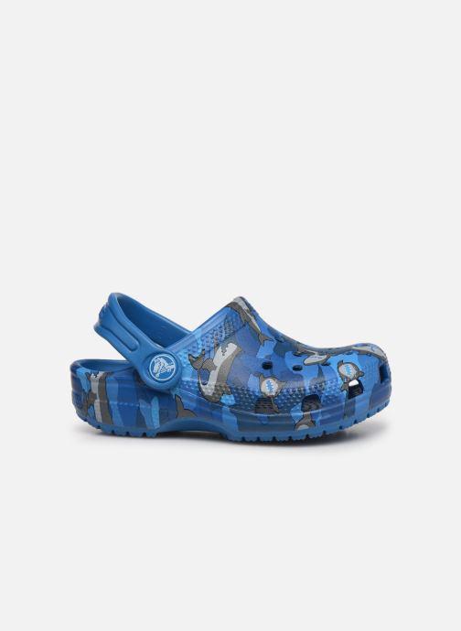 Sandalen Crocs Classic Shark Clog PS blau ansicht von hinten