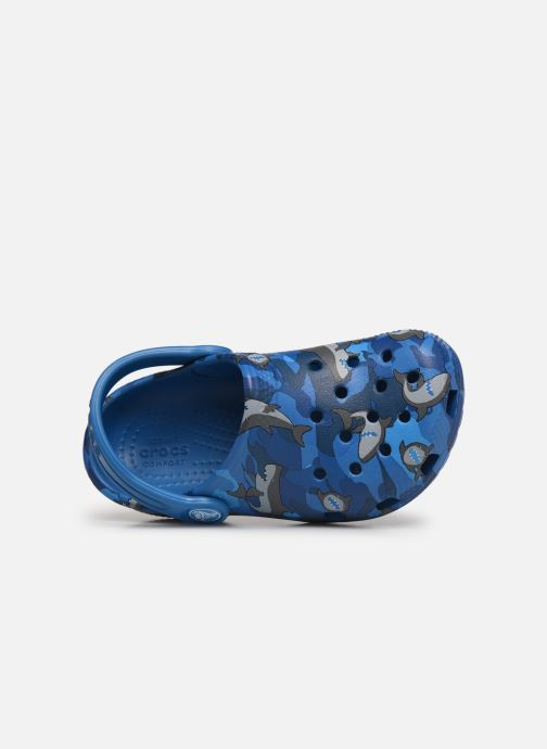 Sandalen Crocs Classic Shark Clog PS blau ansicht von links