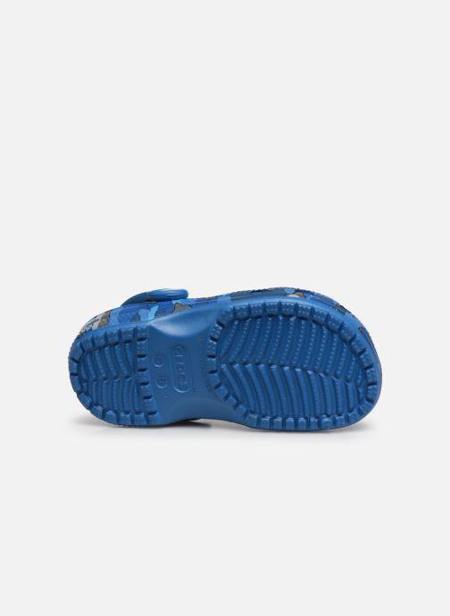 Sandalen Crocs Classic Shark Clog PS blau ansicht von oben