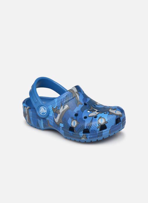 Sandalen Crocs Classic Shark Clog PS blau detaillierte ansicht/modell