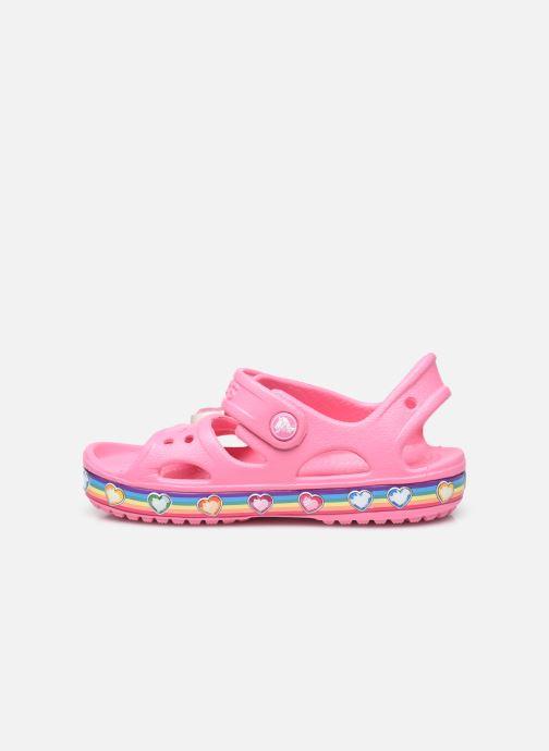 Sandalen Crocs Fun Lab Rainbow Sandal rosa ansicht von vorne