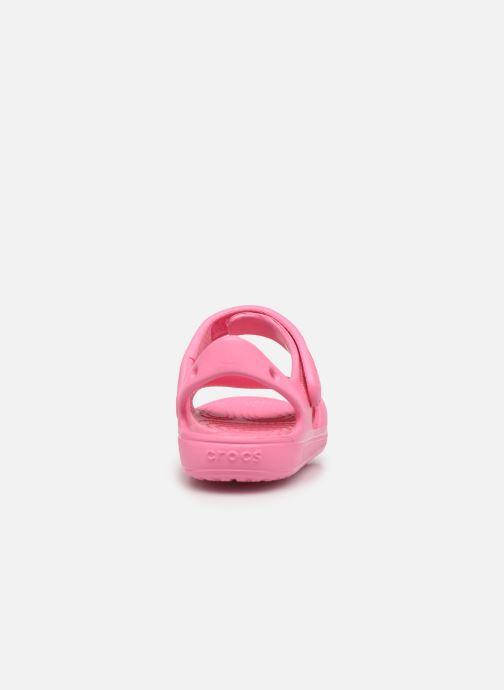 Sandalen Crocs Classic Cross Strap Charm Sandal T rosa ansicht von rechts