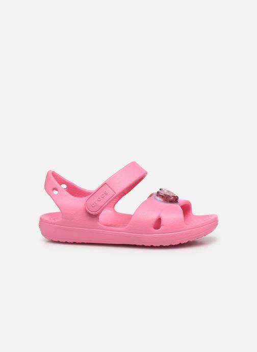 Sandalen Crocs Classic Cross Strap Charm Sandal T rosa ansicht von hinten