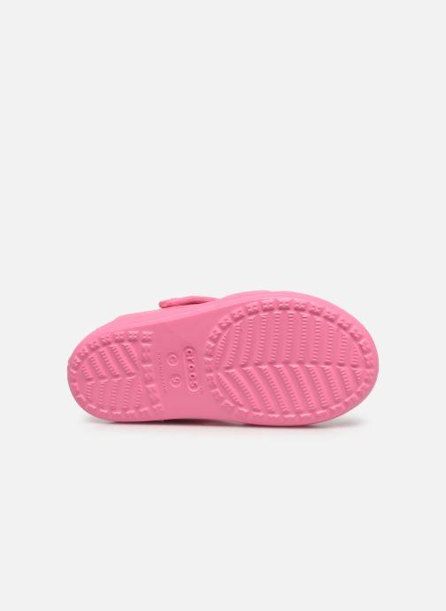Sandalen Crocs Classic Cross Strap Charm Sandal T rosa ansicht von oben