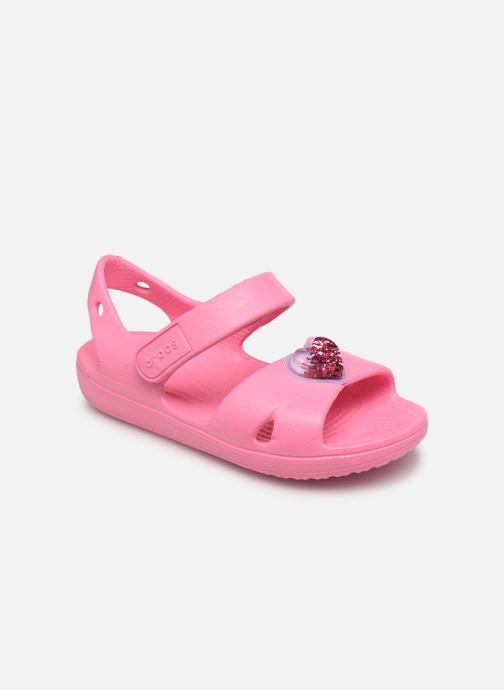 Sandalen Crocs Classic Cross Strap Charm Sandal T rosa detaillierte ansicht/modell