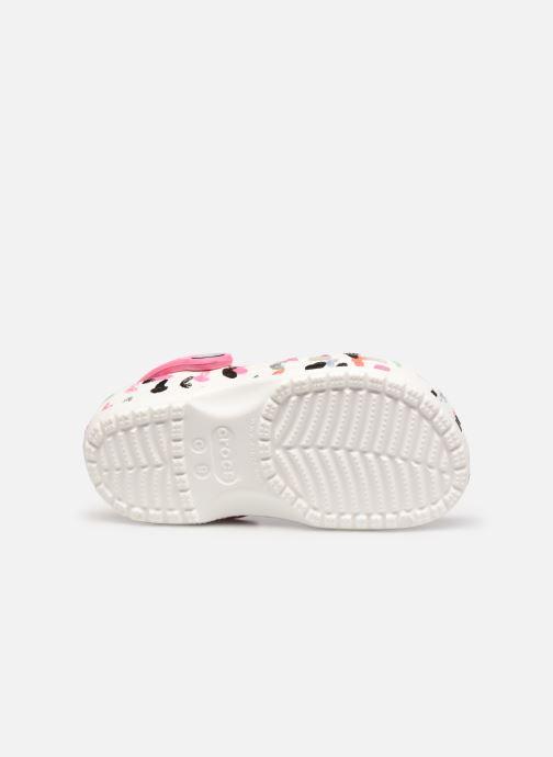 Sandalen Crocs Classic Heart Print Clog K weiß ansicht von oben