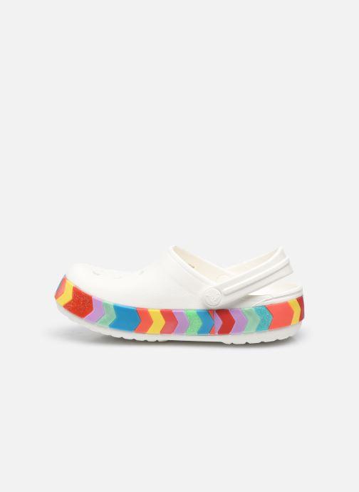 Sandalen Crocs Crocband Chevron Beaded Clog Kids Wit voorkant