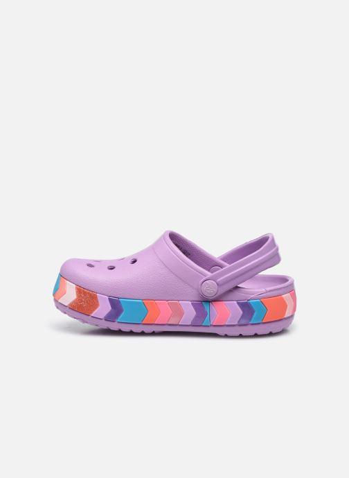 Sandalen Crocs Crocband Chevron Beaded Clog Kids lila ansicht von vorne