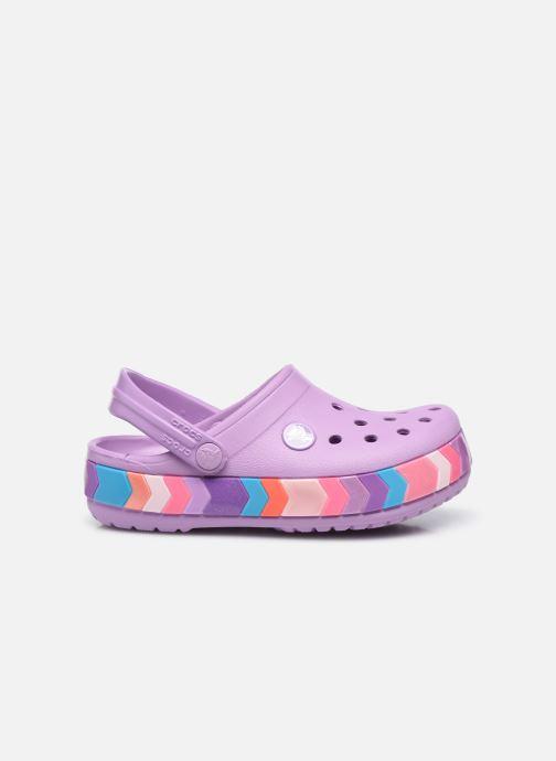 Sandalen Crocs Crocband Chevron Beaded Clog Kids lila ansicht von hinten