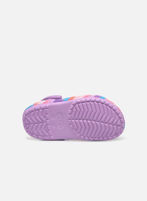Sandalen Crocs Crocband Chevron Beaded Clog Kids lila ansicht von oben