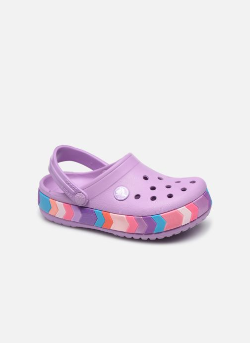 Sandalen Crocs Crocband Chevron Beaded Clog Kids lila detaillierte ansicht/modell