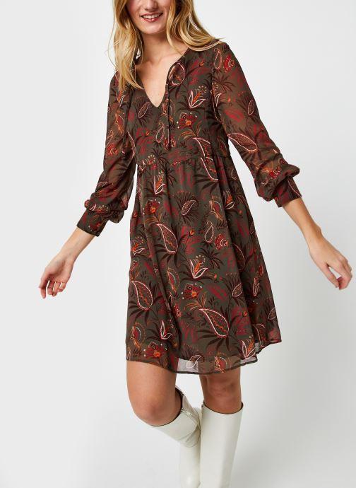 Vêtements IKKS Women Robe voile cachemire Vert vue détail/paire