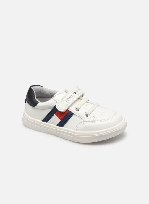 Baskets Tommy Hilfiger Low Cut Lace-Up/Velcro Sneaker Blanc vue détail/paire