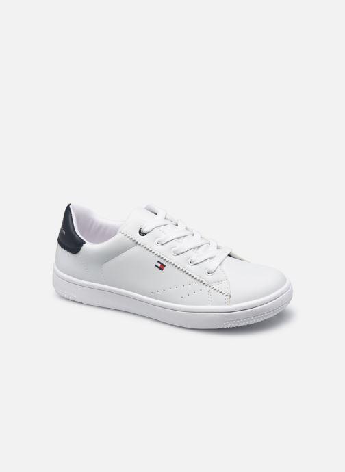 Baskets Tommy Hilfiger Low Cut Lace-Up Sneaker White/B Blanc vue détail/paire