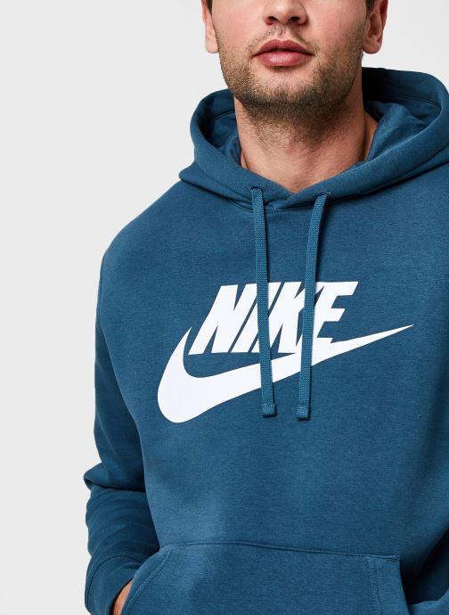 Vêtements Nike M Nsw Club Hoodie Po Bb Gx Vert vue face