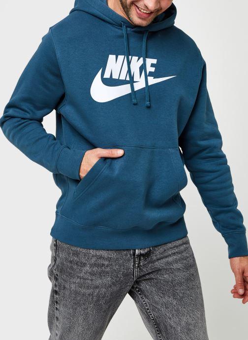 Vêtements Nike M Nsw Club Hoodie Po Bb Gx Vert vue droite