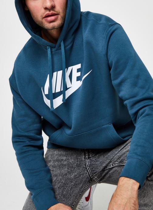 Vêtements Nike M Nsw Club Hoodie Po Bb Gx Vert vue détail/paire