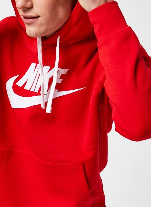 Kleding Nike M Nsw Club Hoodie Po Bb Gx Rood voorkant