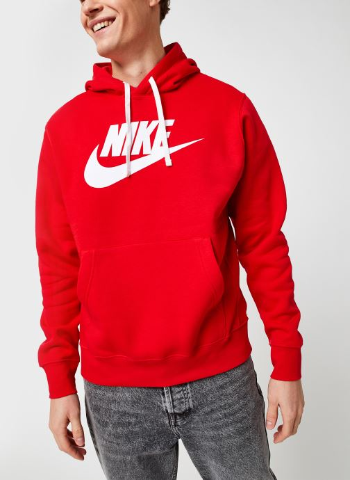 Kleding Nike M Nsw Club Hoodie Po Bb Gx Rood rechts