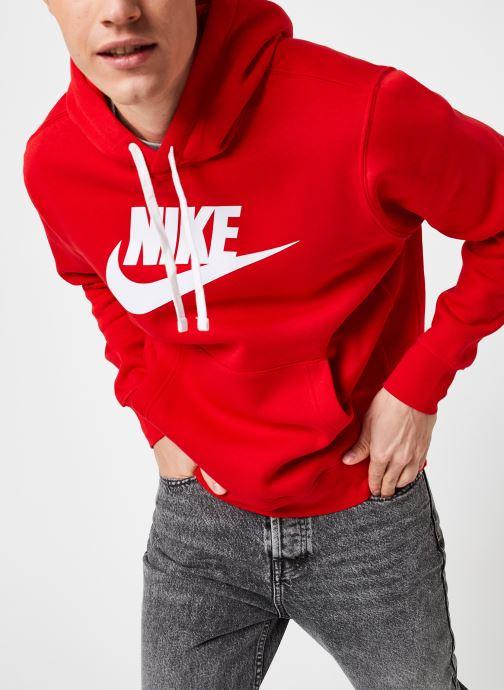 Kleding Nike M Nsw Club Hoodie Po Bb Gx Rood detail
