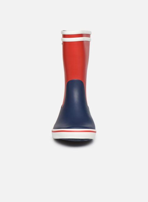 Stivali Aigle Malouine Col Multicolore modello indossato