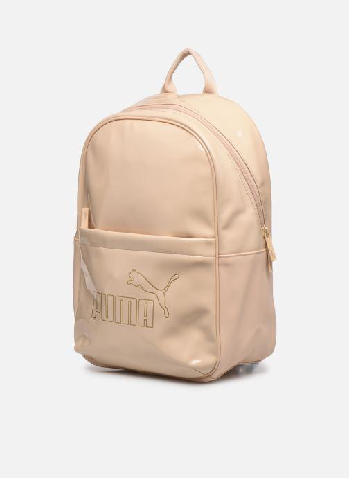 Mochilas Puma Core Up Backpack Beige vista del modelo