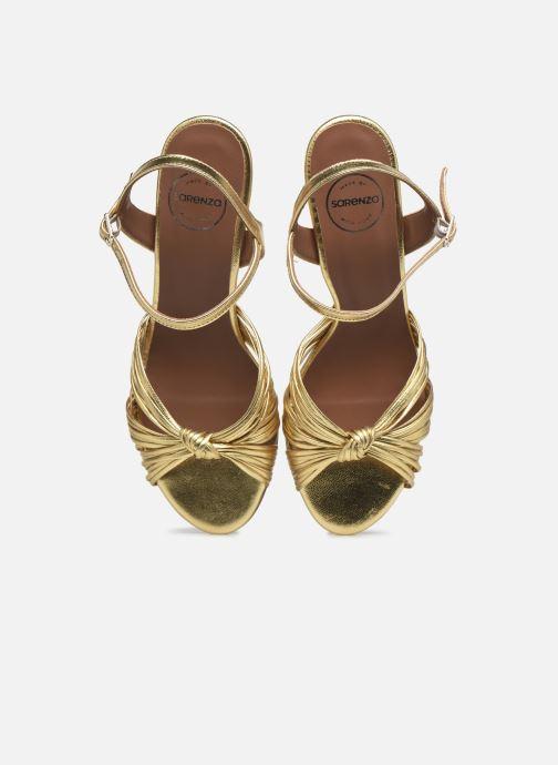 Sandalen Made by SARENZA Exotic Vibes Sandales à Talons #2 gold/bronze schuhe getragen