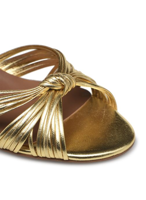 Sandalen Made by SARENZA Exotic Vibes Sandales à Talons #2 gold/bronze ansicht von links