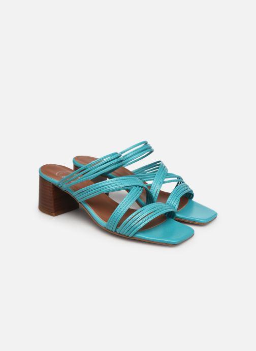 Sandalen Made by SARENZA Exotic Vibes Sandales à Talons #5 Blauw achterkant
