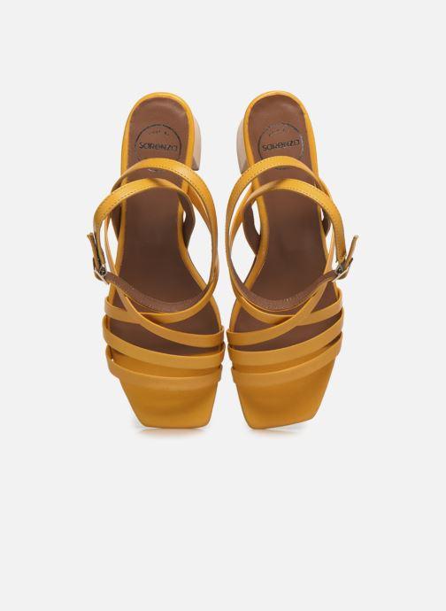 Sandalen Made by SARENZA Exotic Vibes Sandales à Talons #6 gelb schuhe getragen