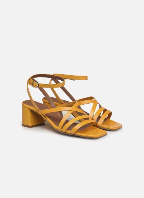 Sandalen Made by SARENZA Exotic Vibes Sandales à Talons #6 gelb ansicht von hinten