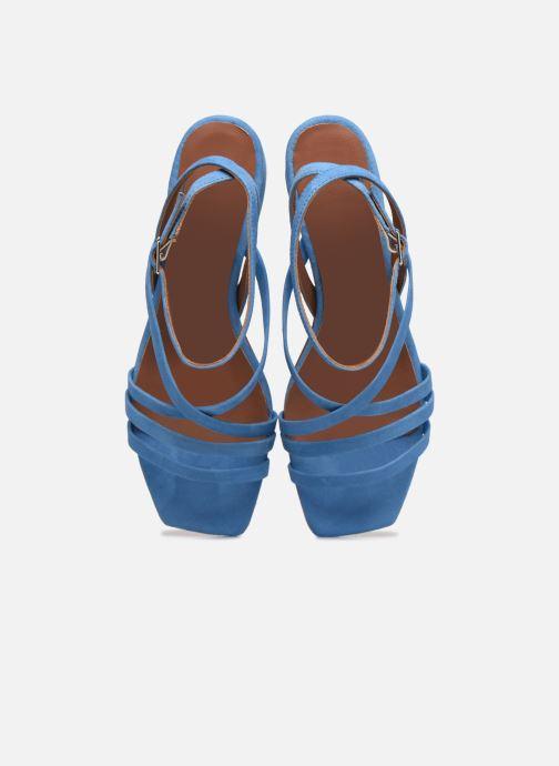 Sandalen Made by SARENZA Exotic Vibes Sandales à Talons #6 blau schuhe getragen