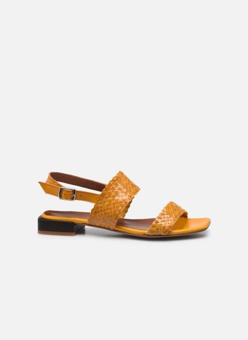 Sandaler Made by SARENZA Rustic Beach Sandales à Talons #6 Gul detaljeret billede af skoene
