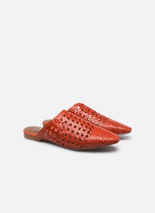Clogs & Pantoletten Made by SARENZA Rustic Beach Mules #2 rot ansicht von hinten