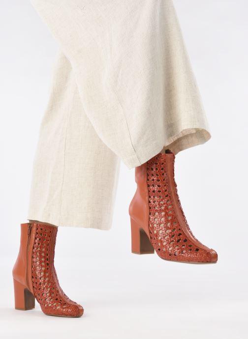 Stiefeletten & Boots Made by SARENZA Rustic Beach Boots #1 rot ansicht von unten / tasche getragen