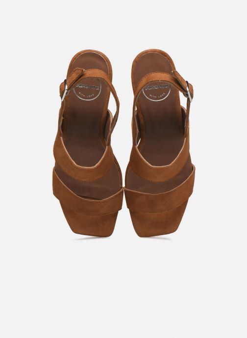 Sandalen Made by SARENZA Minimal Summer Sandales à Talons #3 braun schuhe getragen