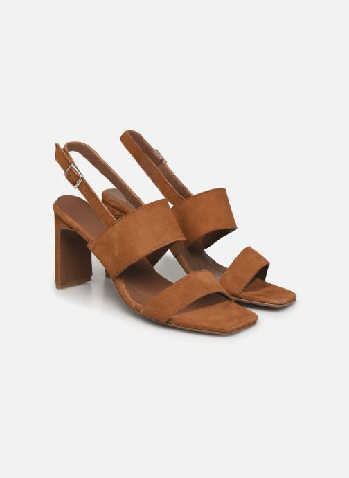 Sandalen Made by SARENZA Minimal Summer Sandales à Talons #3 Bruin achterkant