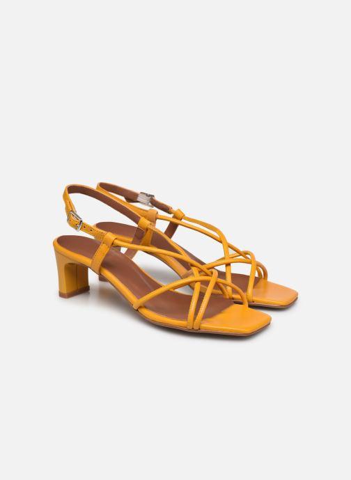 Sandalen Made by SARENZA Exotic Vibes Sandales à Talons #10 gelb ansicht von hinten