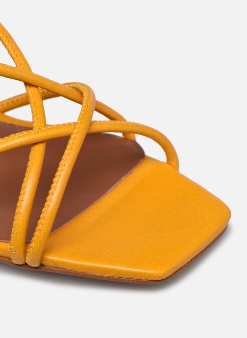 Sandalen Made by SARENZA Exotic Vibes Sandales à Talons #10 gelb ansicht von links